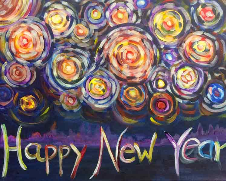 Happy New Year (acrylics)