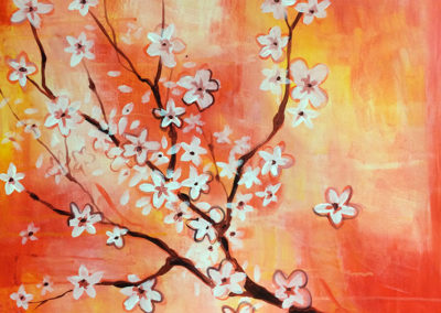 Cherry Blossoms (acrylics)