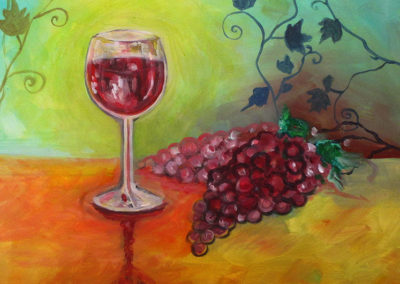 Wine & Grapes (acrylics)