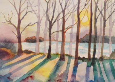Winter Trees (watercolor)