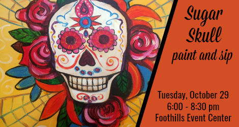 Sugar Skull paint and sip class